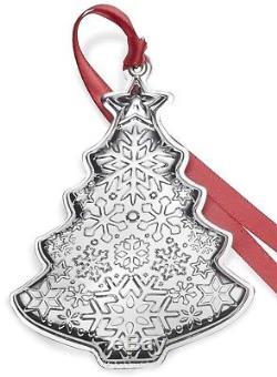 BNIB 2018 GORHAM 2nd Sterling Silver Christmas Tree Ornament Pendant Medallion
