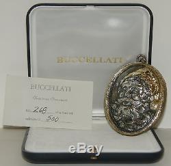 Buccellati Sterling Silver 1988 Santa Super Rare Christmas Ornament