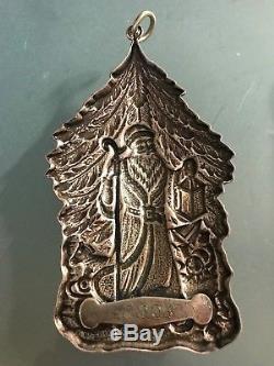 BUCCELLATI Sterling Silver, 1998 ORIGINAL FATHER CHRISTMAS Ornament #004