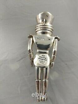 Bloomingdales Nutcracker Sterling Silver Christmas Ornament, New, Rare, Mint