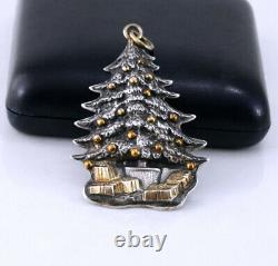Buccellati 1989 Christmas Tree Sterling Silver Christmas Ornament, Hard to Find