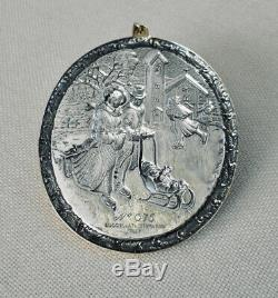 Buccellati 2008 Victorian Skaters Sterling Silver/vermeil #75 Christmas Ornament