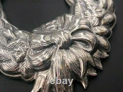 Buccellati Italy Sterling Silver 925 1991 Christmas Greens Bow Wreath Ornament