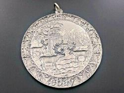 Buccellati Italy Sterling Silver 925 2005 Reindeer Gathering Christmas Ornament