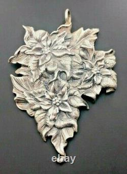 Buccellati Italy Sterling Silver 925 2016 Poinsettia Christmas Holiday Ornament