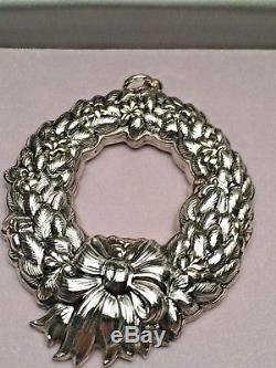 Buccellati Sterling Silver Christmas Ornament 1991 Wreath, New in Box