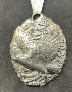 Buccellati Sterling Silver Eagle Ornament Christmas or Wall Hanging Patriotic