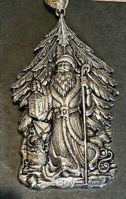 Buccellati Sterling Silver Santa Claus Ornament #156/500 JB0497