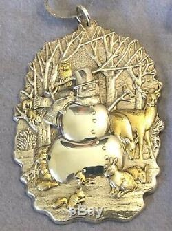 Buccellati Sterling Silver Snowman & Woodland Creatures Ornament JB0497