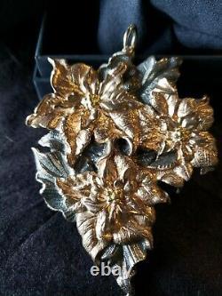 Buccellati sterling Silver Christmas Ornament Poinsettia Rare 300 Made