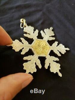Buccellati sterling Silver Snowflake Christmas Ornament