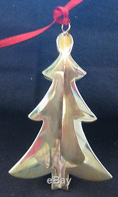 CARTIER Sterling Silver with Gold Wash Christmas Ornament CHRISTMAS TREE