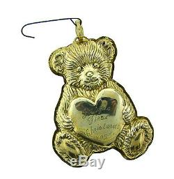 CHEERFUL Reed & Barton Sterling Silver Bear Christmas Ornament Circa 1996