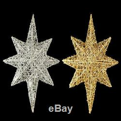 CHRISTMAS TREE TOPPER / BETHLEHEM STAR with LIGHTS / SILVER / GOLD / YOUR CHOICE