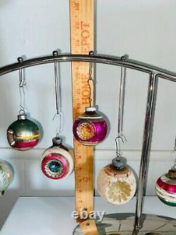 CRATE & BARREL Silver Tone Christmas Ornament Holder Centerpiece