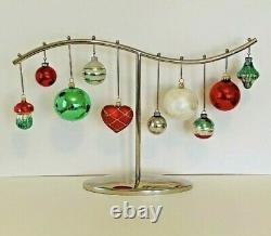CRATE & BARREL Silver Tone Christmas Ornament Holder Centerpiece RARE FIND