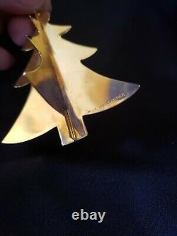 Cartier Sterling silver Gold Vermeil Christmas Ornament Tree Extremely Rare