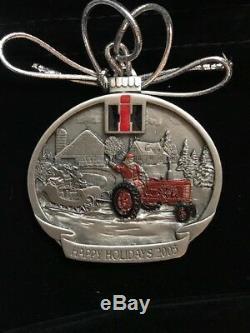 Case IH International Harvester Pewter Christmas FARMALL Ornament YEAR 2004 2018