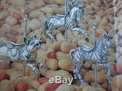 Cazenovia Abroad Sterling Silver Carousel Looff Sneaky Tiger Christmas Ornament