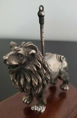 Cazenovia Abroad Sterling Silver Lion Carousel Ornament WTD STER 391/2349