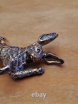 Cazenovia Abroad Sterling Silver Rabbit Carousel Ornament