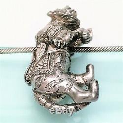 Cazenovia Prowling Tiger Carousel Sterling Silver Ornament Limited Edition