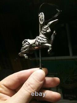 Cazenovia Sterling Silver Christmas Ornament Carousel Rabbit Rare