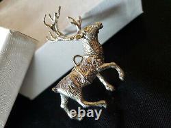 Cazenovia Sterling silver Christmas Ornament Reindeer prancer Rare