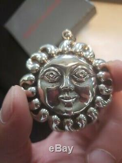 Cazenovia Sterling silver Christmas Ornament Sunface Rare
