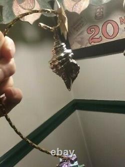 Cazenovia Trush Sterling Silver Christmas Ornament Conch Shell Extremely Rare