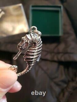 Cazenovia Trush Sterling Silver Christmas Ornament Seahorse Extremely Rare