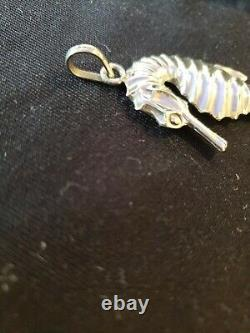 Cazenovia Trush Sterling silver Christmas Ornament Sea Horse Extremely Rare