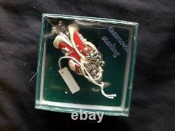 Cazenovia sterling Silver Christmas Ornament Enameled Santa Super Rare