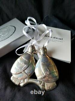 Cazenovia sterling Silver Christmas Ornament Judith Kall Two Turtle Doves 2nd