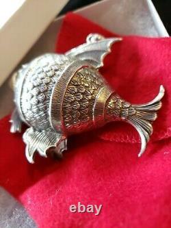 Cazenovia sterling Silver Christmas Ornament Large Fish rare