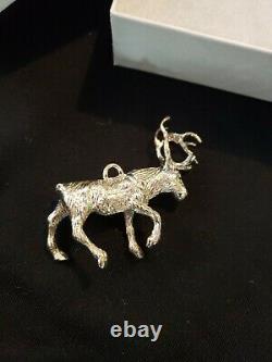 Cazenovia sterling Silver Christmas Ornament Reindeer Cupid