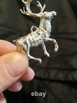 Cazenovia sterling Silver Christmas Ornament Reindeer Prancer