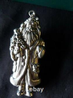 Cazenovia sterling Silver Christmas Ornament Santa