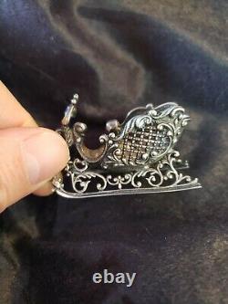 Cazenovia sterling Silver Christmas Ornament Sleigh Extremely Rare