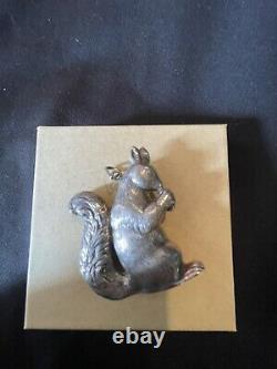 Cazenovia trush sterling silver squirrel Christmas Ornament