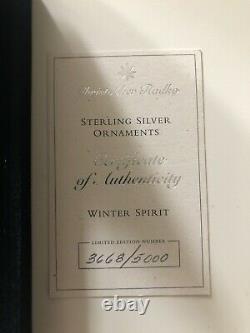 Christipher Radko Sterling Silver Winter Spirit Ornament Ltd Edition Brand New