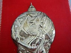 Christmas Ornament Gorham Sterling Silver Vintage Gorham Santa's Helper