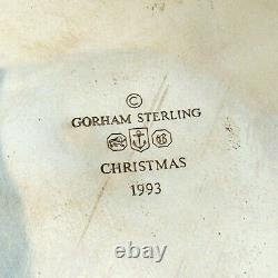 Christmas Ornament Snowflake Sterling Silver Gorham 1993