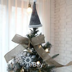 Christmas Premium Bianca silver Snow tree 5.25ft Ornament Set 50 Lights Holiday