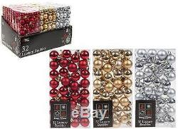 Christmas Tree Decoration 2.5cm Small Luxury Baubles Pack of 32