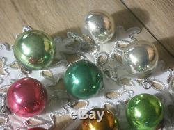 Christmas ornament Kugel red blue silver gold ball Biedermeierkugeln Federbaum
