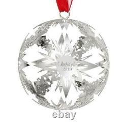 Christofle 2019 Star Christmas Ball Ornament #4254644 Brand Nib Silverplate F/sh