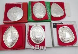 Complete Set Vintage Towel Sterling Silver 12 Days Of Christmas Ornaments LFK2