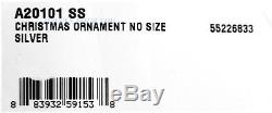DAVID YURMAN AMAZING STERLING SILVER 45 mm 1.75 DIA CHRISTMAS ORNAMENT BALL NEW