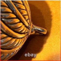 DAVID YURMAN Sterling Silver 925 Cable Ball Christmas Ornament RARE COLLECTABLE